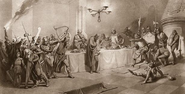 Zichy Mihály illusztrációja A walesi bárdokhoz