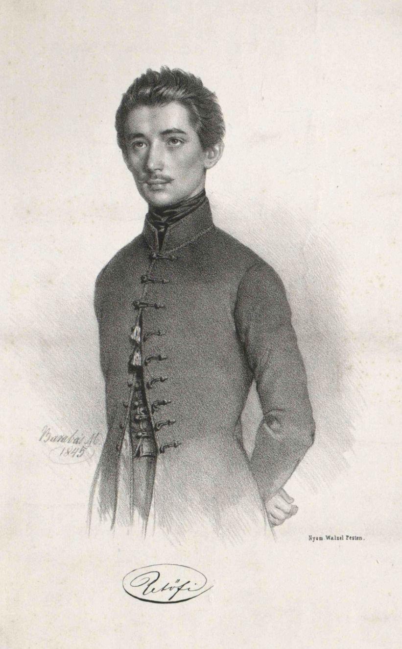 Barabás Miklós: Petőfi Sándor, 1845