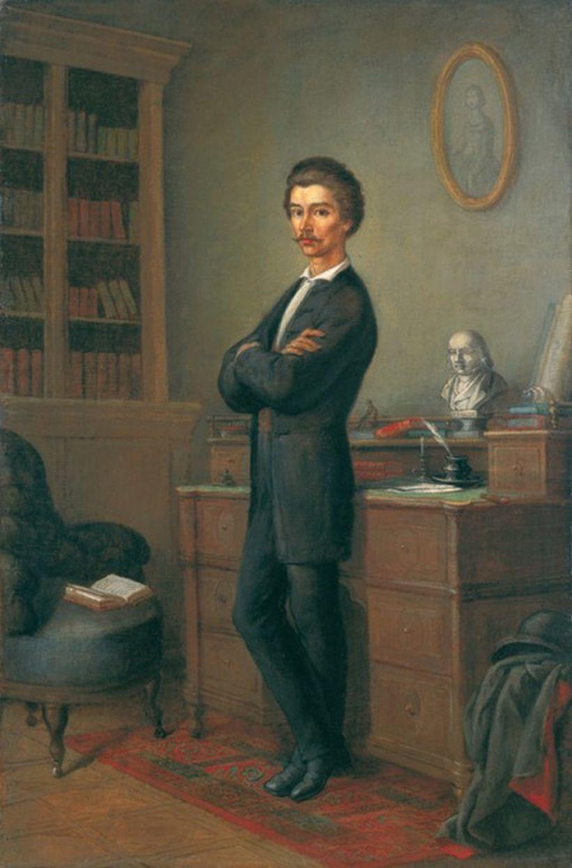 Orlai Petrich Soma - Petőfi dolgozószobájában