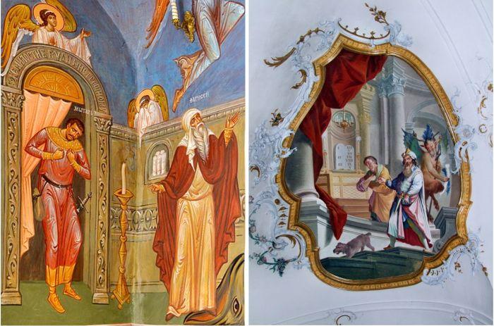 A vámos és a farizeus (freskók)