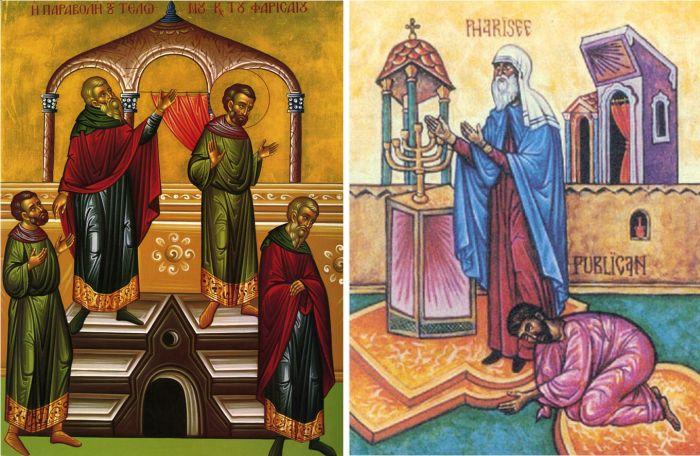 A vámos és a farizeus (ikonok)